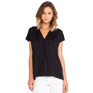 Vince Cascade Short Sleeve Blouse